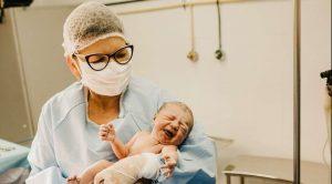 Nurse Baby Delivery Image